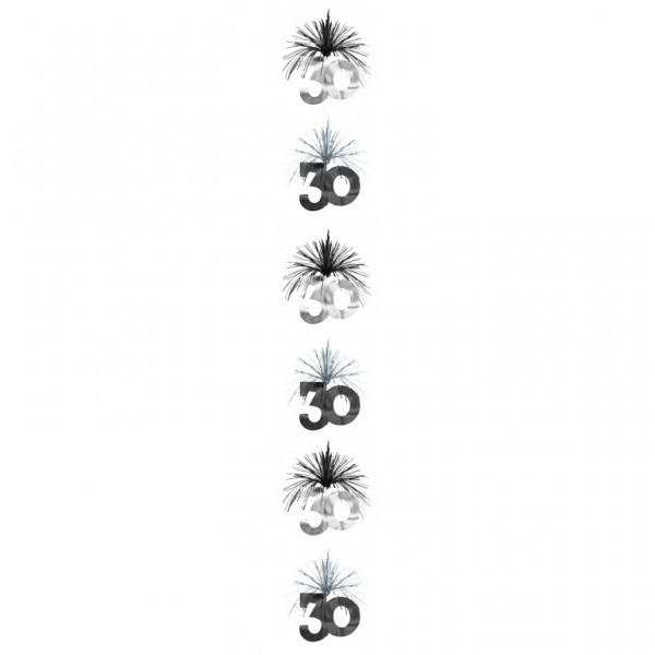 girlande 30 geburtstag als deckenh nger spirale deko party. Black Bedroom Furniture Sets. Home Design Ideas