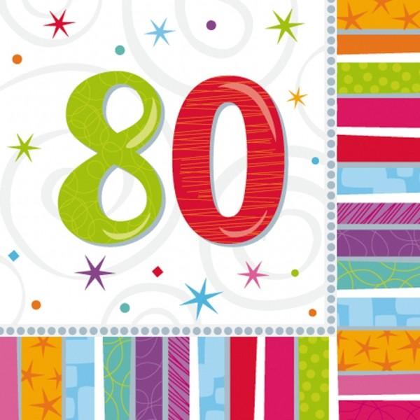 Tischdekoration 80 Geburtstag Servietten-80-geburtstag