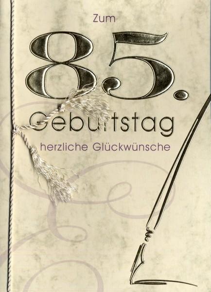 Grußkarte Urkunde Zum 85. Geburtstag herzliche ...