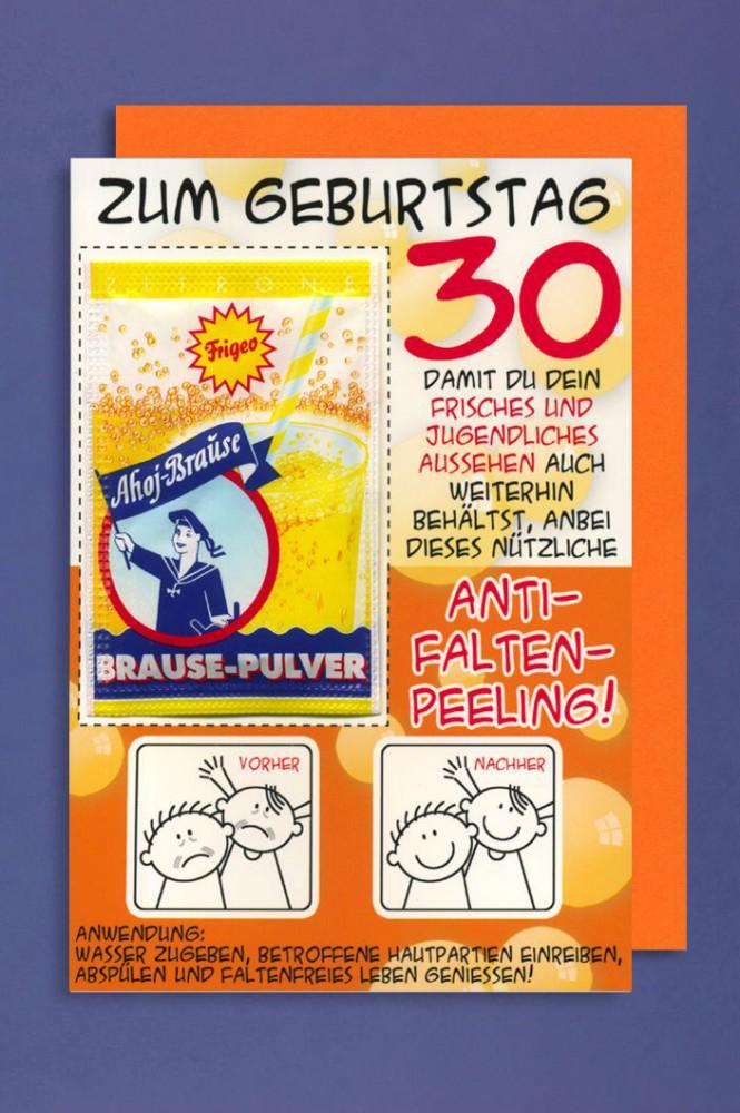 Sprüche Zum 30. Geburtstag Für Karte