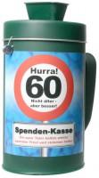 Spardose 60 Geburtstag Spendenkasse Spass als Sammelbüchse