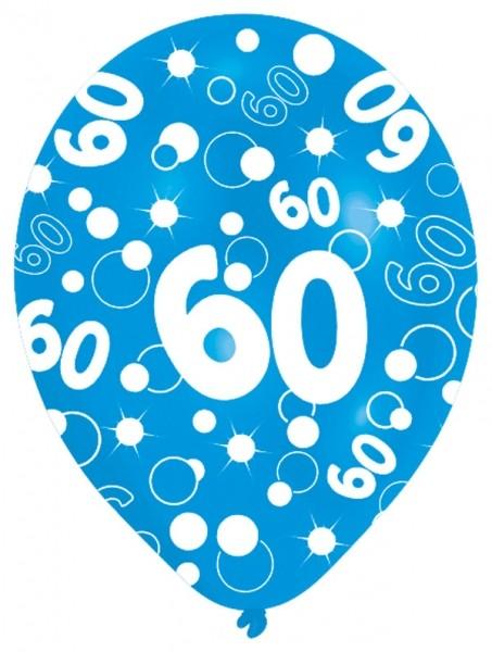 Luftballons 60. Geburtstag Party Deko Feier Ballon 27,5cm ...