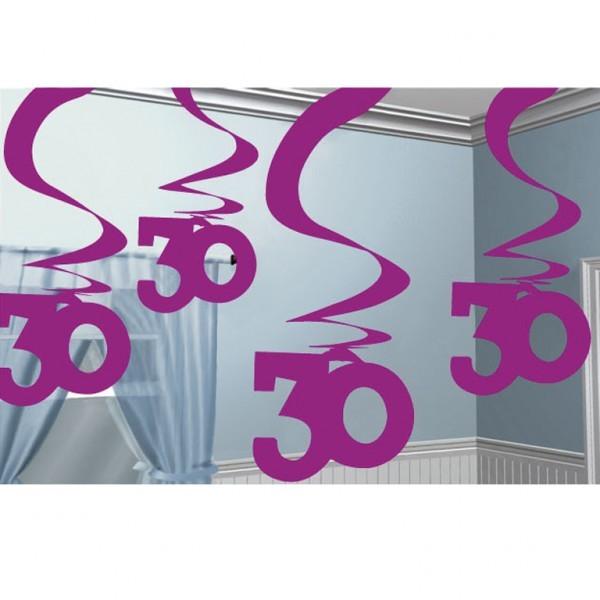 girlande spirale 30 geburtstag pink 5x61cm 505139. Black Bedroom Furniture Sets. Home Design Ideas
