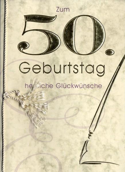 Grußkarte Urkunde Zum 50. Geburtstag herzliche Glückwünsche A5 ...