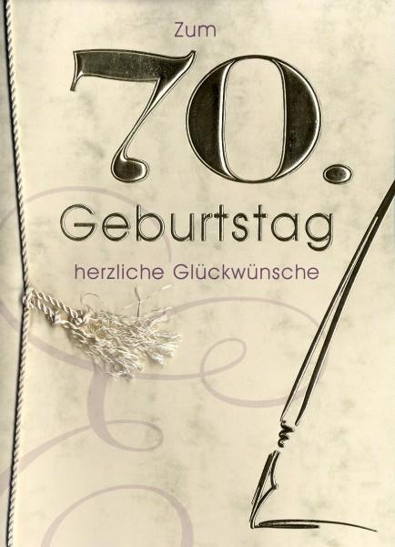 Grußkarte Urkunde Zum 70. Geburtstag herzliche Glückwünsche A5 ...