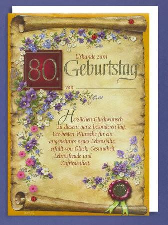 Tina R Perez: Karten Zum 80. Geburtstag Zum Ausdrucken