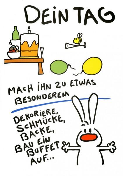 Riesen-Geburtstagskarte Humor Glückwunschkarte Dein Tag ...