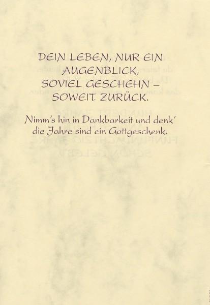 Grußkarte Urkunde Zum 85. Geburtstag herzliche Glückwünsche A5 505867