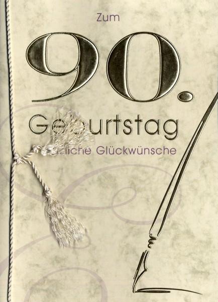 Grußkarte Urkunde Zum 90. Geburtstag herzliche Glückwünsche A5 505868