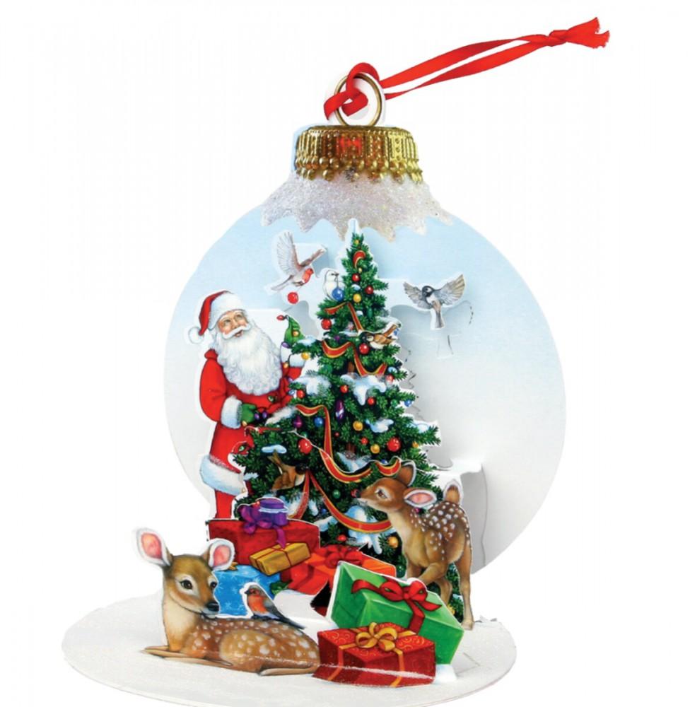 pop up 3d weihnachten ornament karte baum anh nger karte. Black Bedroom Furniture Sets. Home Design Ideas